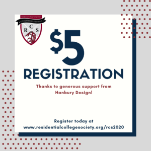 $5 registration for the 2020 virtual Residential College Symposium